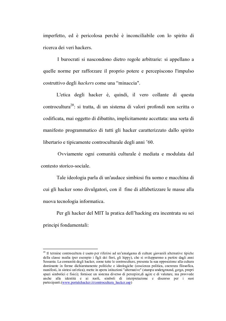 Anteprima della tesi: Le nuove forme di devianza nella società del benessere: il fenomeno dell'hacking, Pagina 11