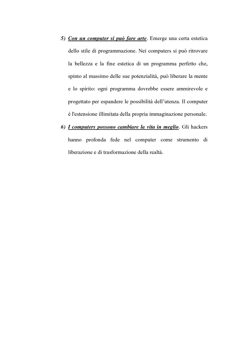Anteprima della tesi: Le nuove forme di devianza nella società del benessere: il fenomeno dell'hacking, Pagina 14