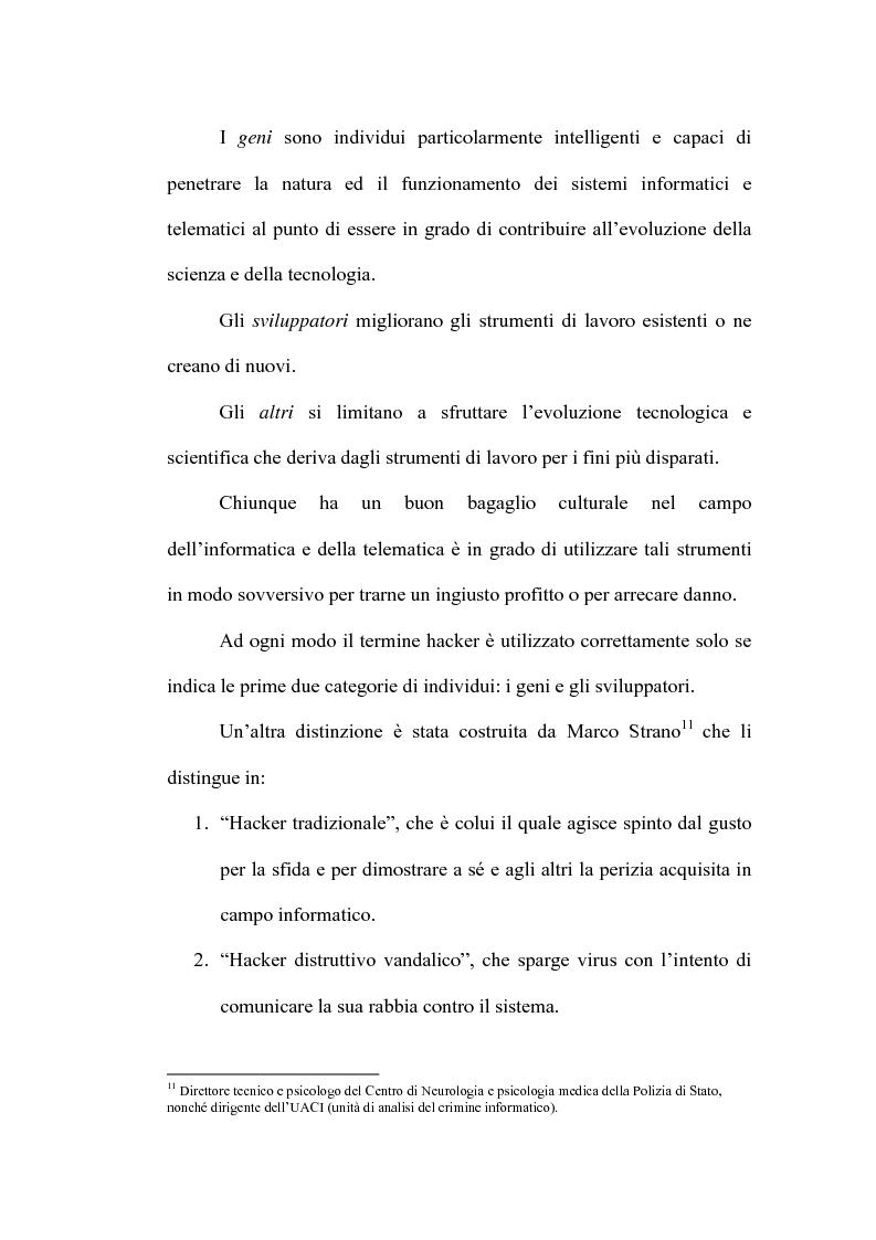 Anteprima della tesi: Le nuove forme di devianza nella società del benessere: il fenomeno dell'hacking, Pagina 5