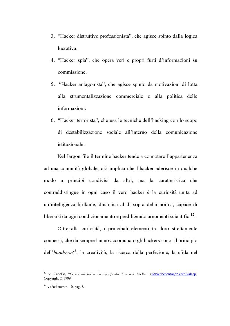 Anteprima della tesi: Le nuove forme di devianza nella società del benessere: il fenomeno dell'hacking, Pagina 6