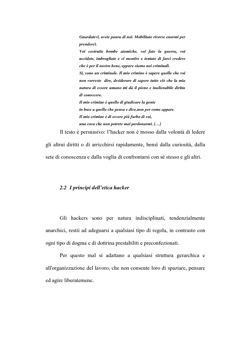 Anteprima della tesi: Le nuove forme di devianza nella società del benessere: il fenomeno dell'hacking, Pagina 8