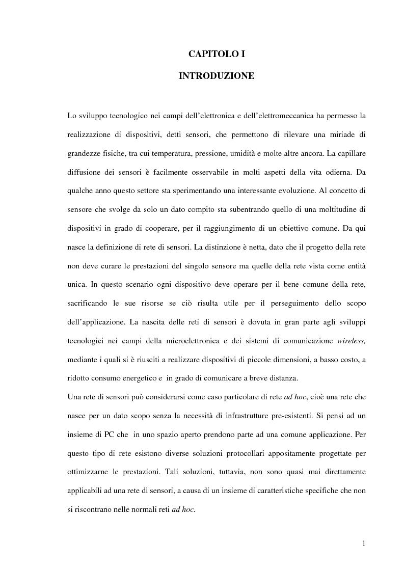 Anteprima della tesi: Un modello markoviano per lo studio dell'evoluzione in transitorio di una rete di sensori, Pagina 1