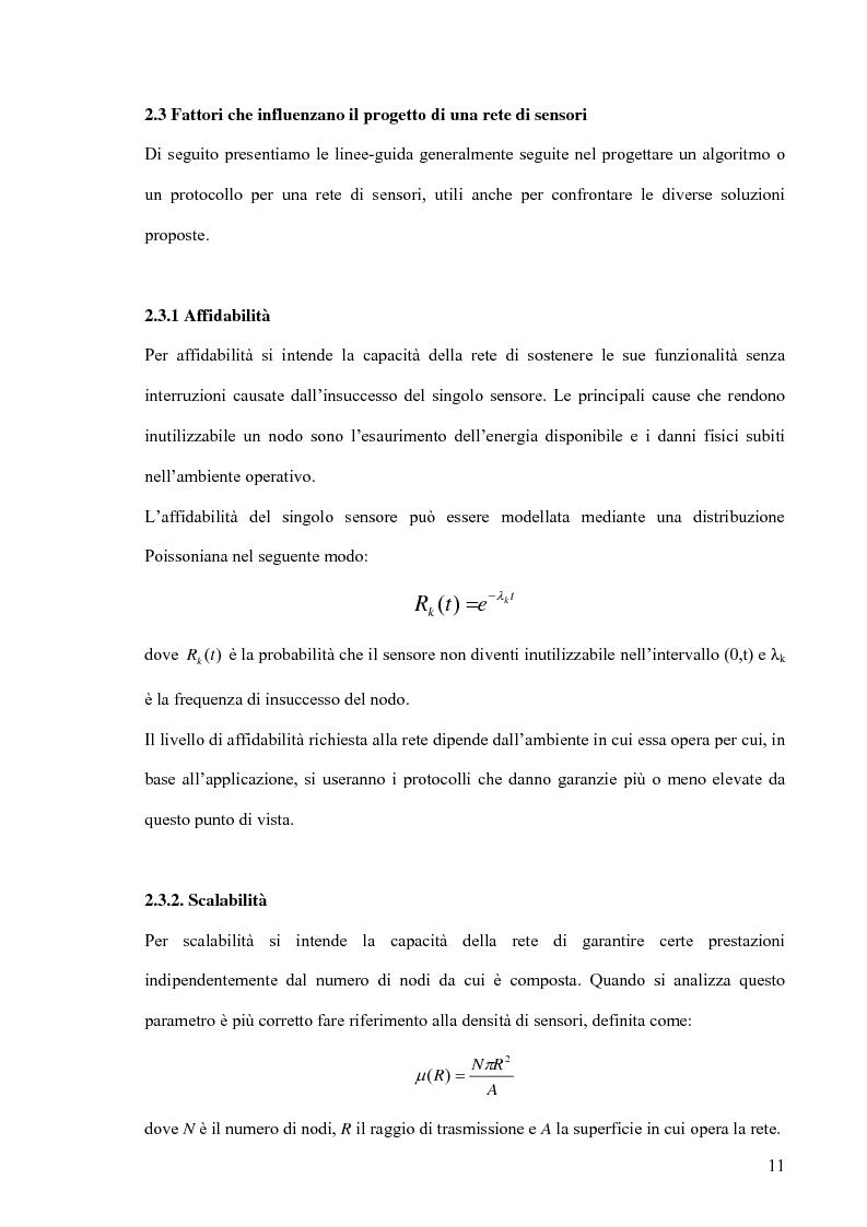 Anteprima della tesi: Un modello markoviano per lo studio dell'evoluzione in transitorio di una rete di sensori, Pagina 11