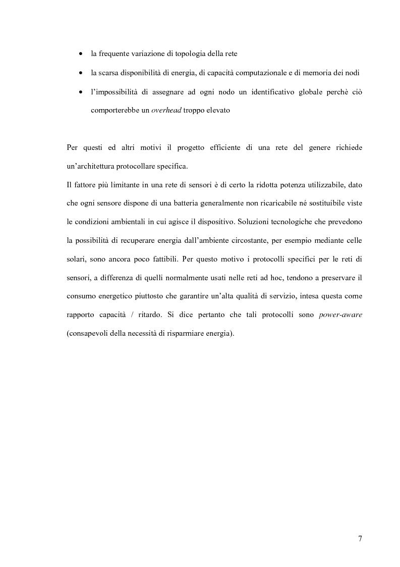 Anteprima della tesi: Un modello markoviano per lo studio dell'evoluzione in transitorio di una rete di sensori, Pagina 7
