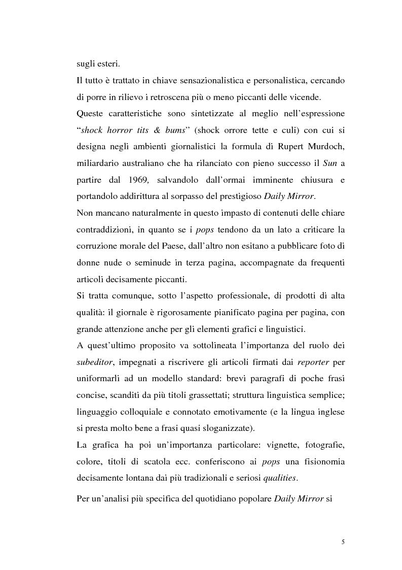 """Anteprima della tesi: L'Occhio, un quotidiano """"popular"""" all'italiana, Pagina 10"""