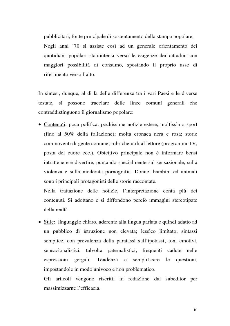 """Anteprima della tesi: L'Occhio, un quotidiano """"popular"""" all'italiana, Pagina 15"""