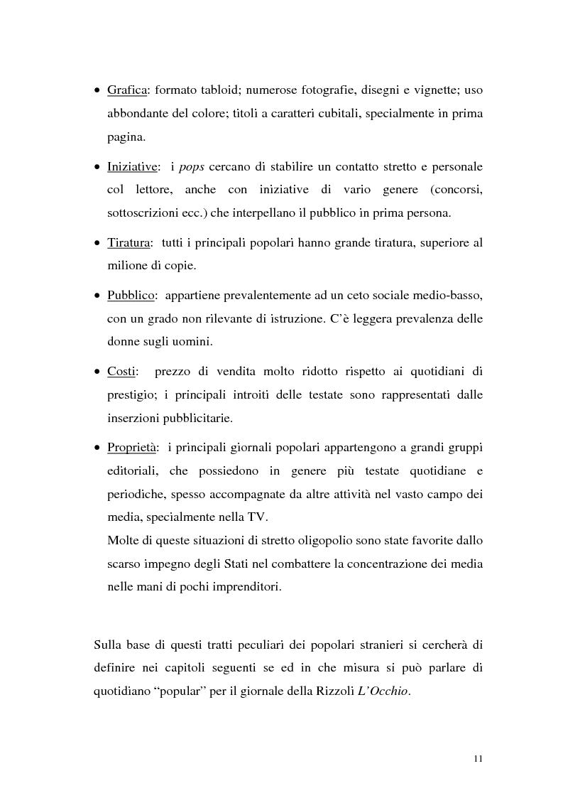 """Anteprima della tesi: L'Occhio, un quotidiano """"popular"""" all'italiana, Pagina 16"""