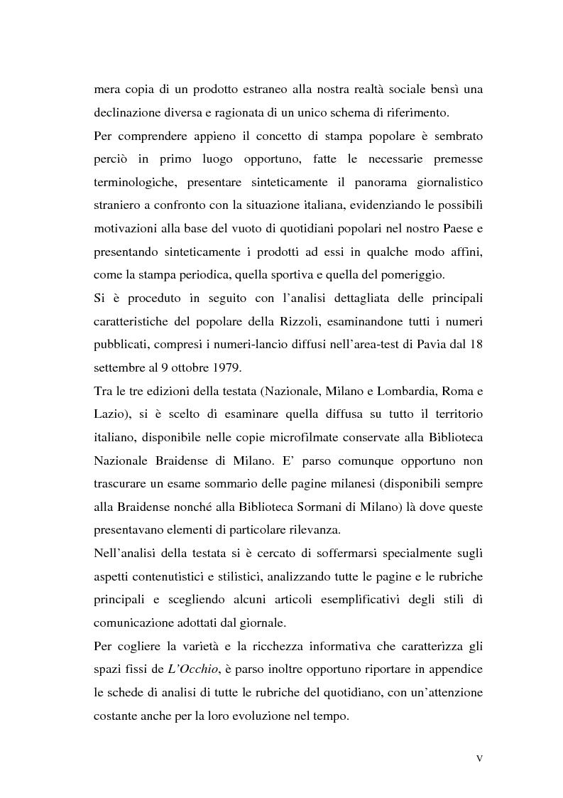 """Anteprima della tesi: L'Occhio, un quotidiano """"popular"""" all'italiana, Pagina 2"""