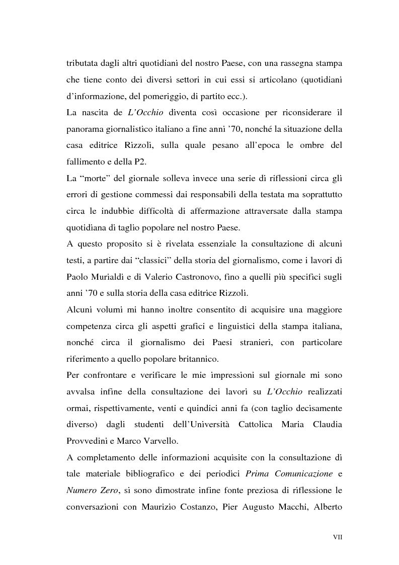 """Anteprima della tesi: L'Occhio, un quotidiano """"popular"""" all'italiana, Pagina 4"""