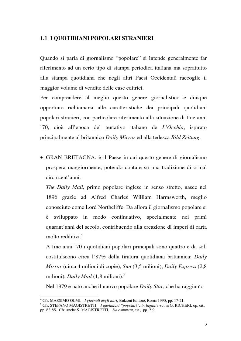 """Anteprima della tesi: L'Occhio, un quotidiano """"popular"""" all'italiana, Pagina 8"""