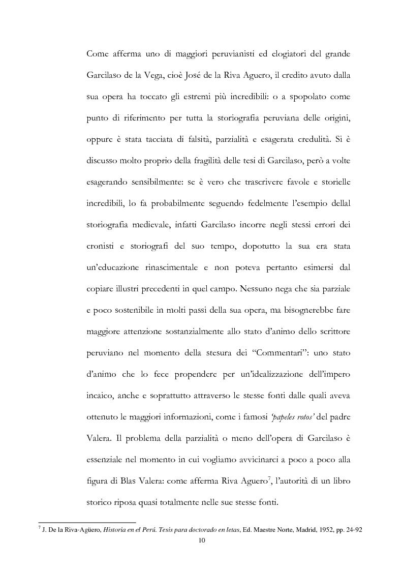 Anteprima della tesi: Nuove fonti storiche del Tahuantinsuyu: il gesuita Blas Valera, Pagina 10