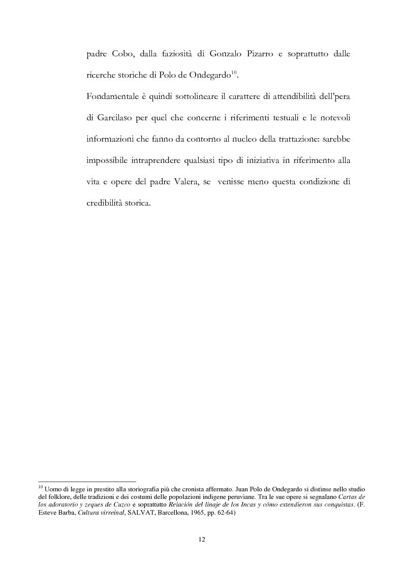 Anteprima della tesi: Nuove fonti storiche del Tahuantinsuyu: il gesuita Blas Valera, Pagina 12