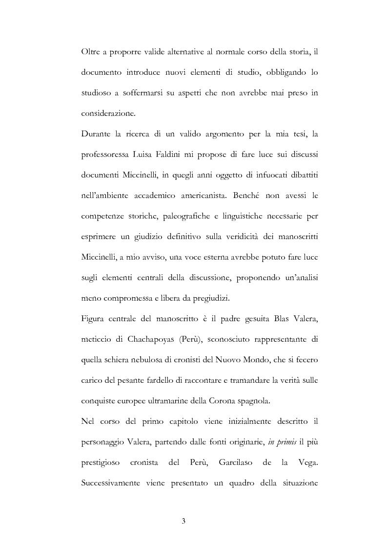 Anteprima della tesi: Nuove fonti storiche del Tahuantinsuyu: il gesuita Blas Valera, Pagina 3