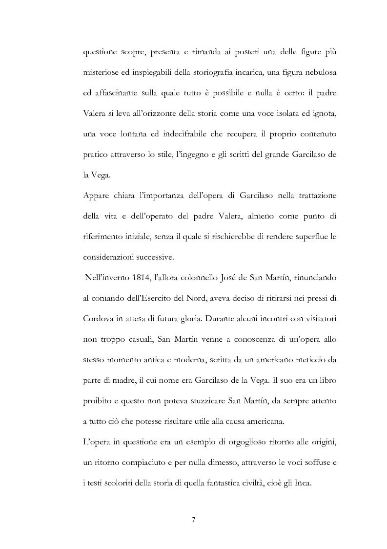 Anteprima della tesi: Nuove fonti storiche del Tahuantinsuyu: il gesuita Blas Valera, Pagina 7
