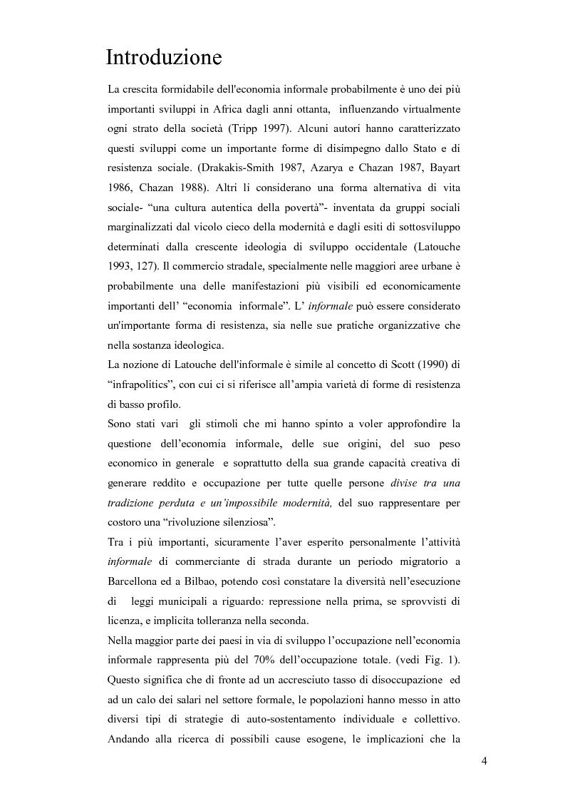 Anteprima della tesi: Informale e resistenza sociale in Tanzania, Pagina 1