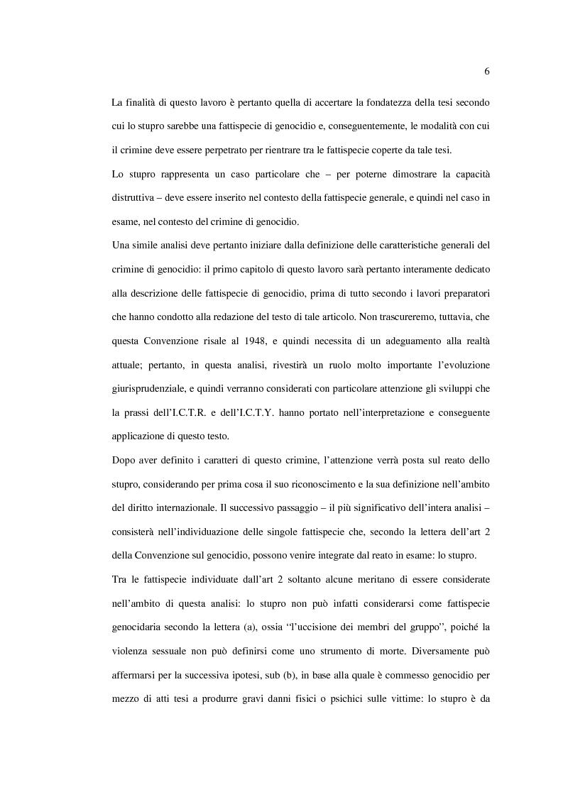Anteprima della tesi: Stupro e Genocidio nel Diritto Internazionale, Pagina 4