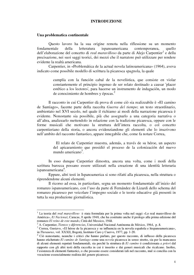 Anteprima della tesi: La novela picaresca spagnola e la narrativa ispanoamericana, Pagina 1