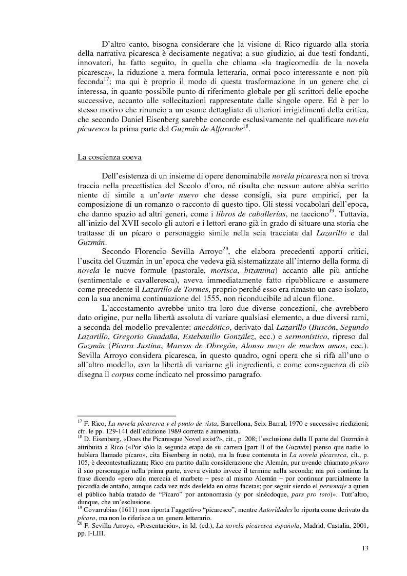 Anteprima della tesi: La novela picaresca spagnola e la narrativa ispanoamericana, Pagina 10