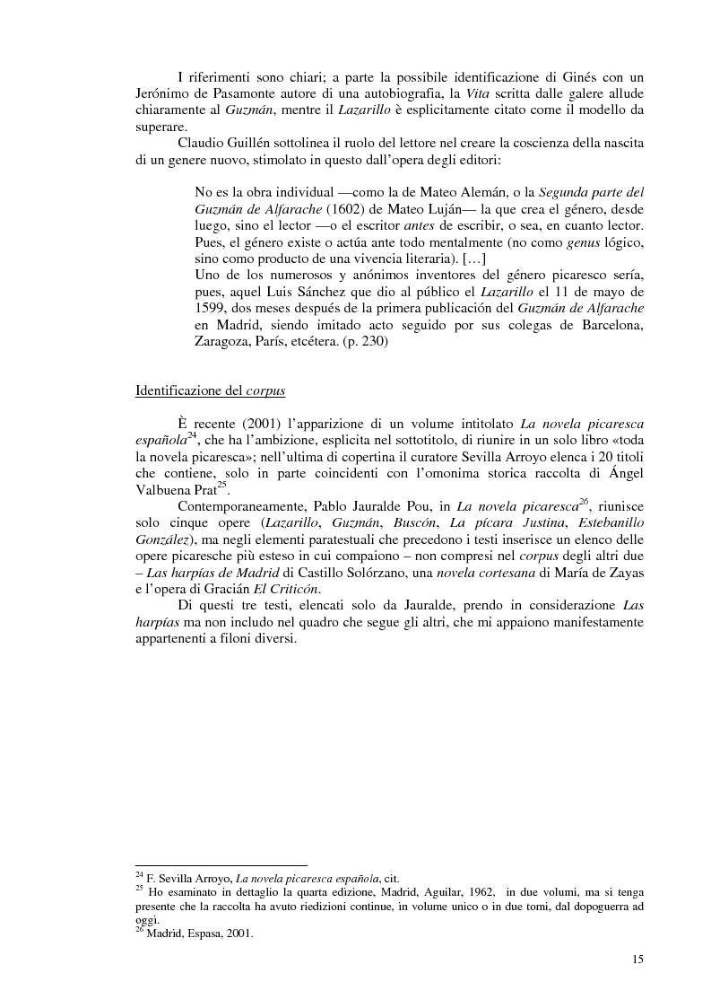 Anteprima della tesi: La novela picaresca spagnola e la narrativa ispanoamericana, Pagina 12