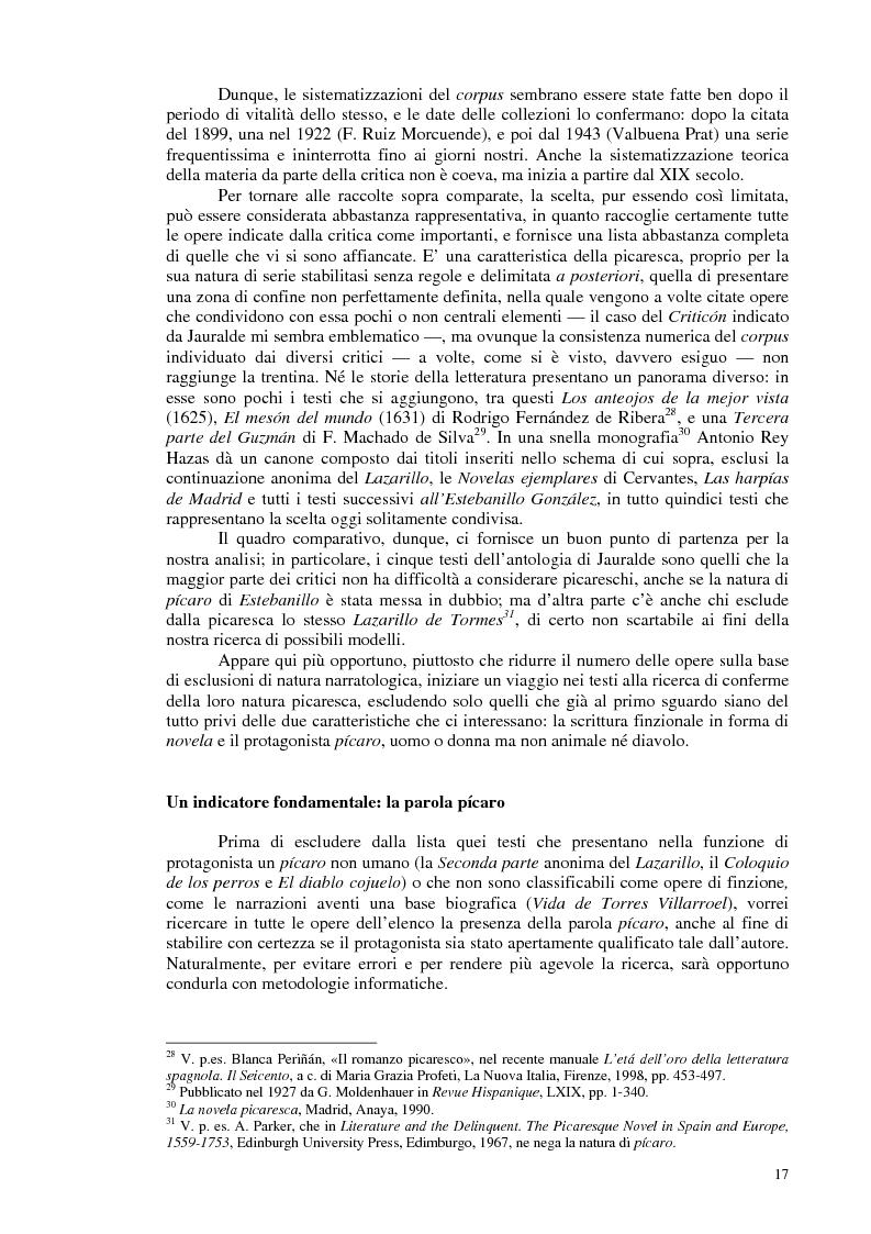 Anteprima della tesi: La novela picaresca spagnola e la narrativa ispanoamericana, Pagina 14