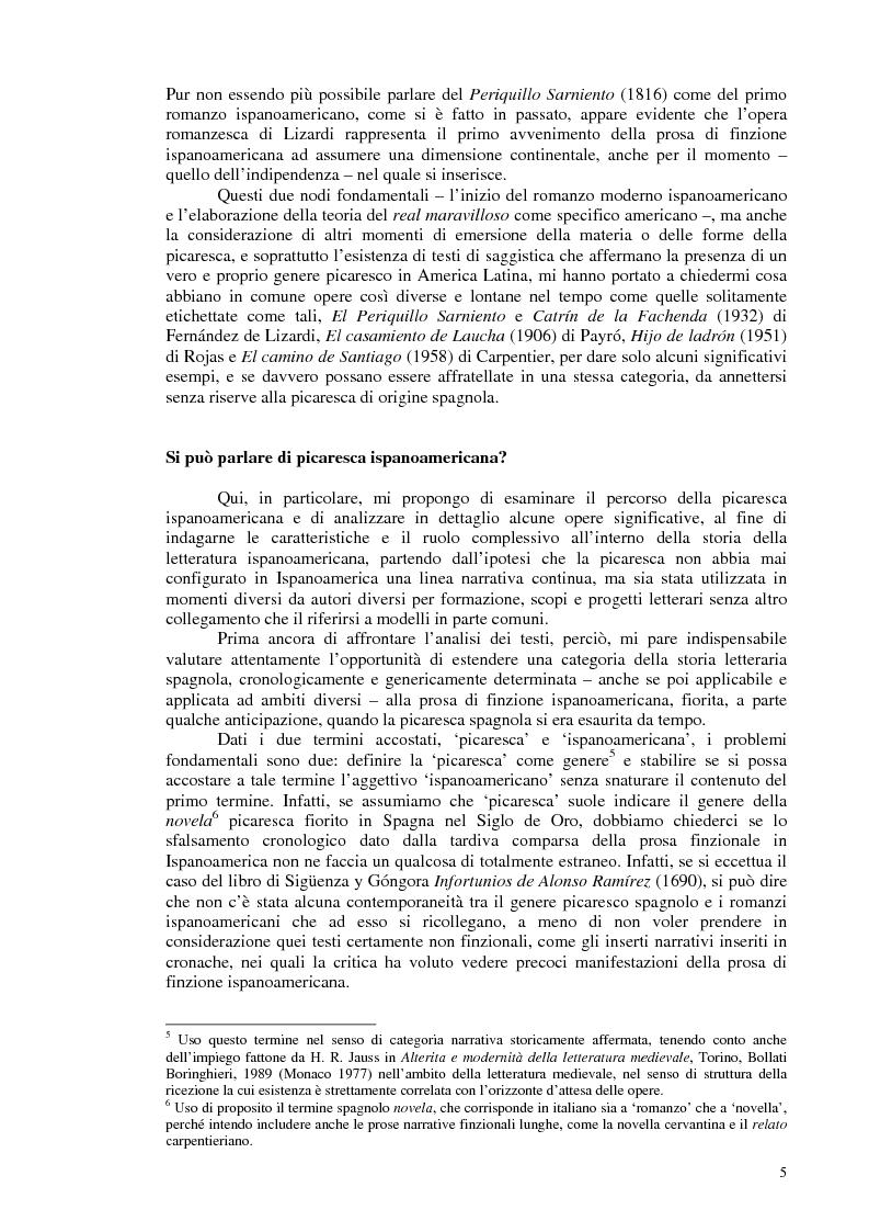Anteprima della tesi: La novela picaresca spagnola e la narrativa ispanoamericana, Pagina 2