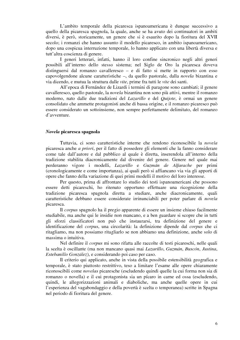 Anteprima della tesi: La novela picaresca spagnola e la narrativa ispanoamericana, Pagina 3