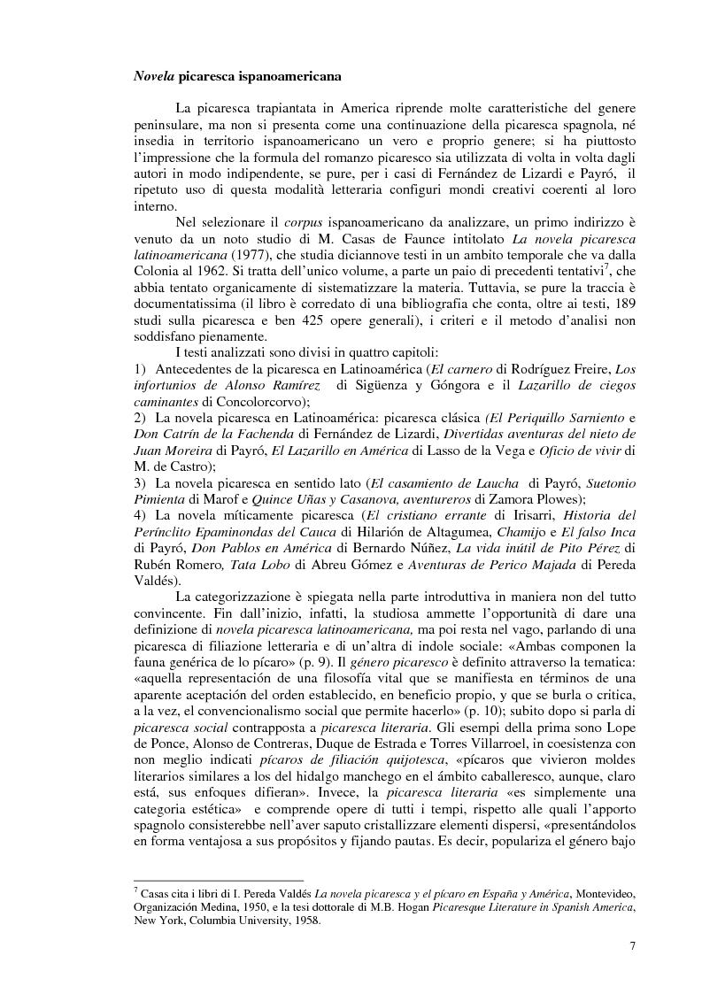 Anteprima della tesi: La novela picaresca spagnola e la narrativa ispanoamericana, Pagina 4