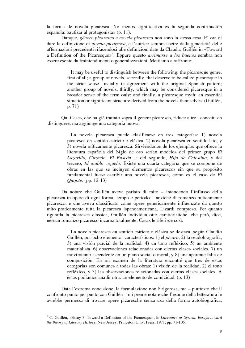 Anteprima della tesi: La novela picaresca spagnola e la narrativa ispanoamericana, Pagina 5