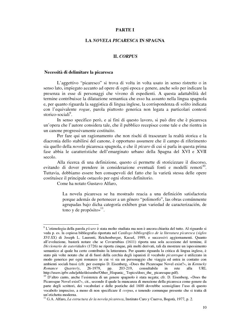 Anteprima della tesi: La novela picaresca spagnola e la narrativa ispanoamericana, Pagina 7