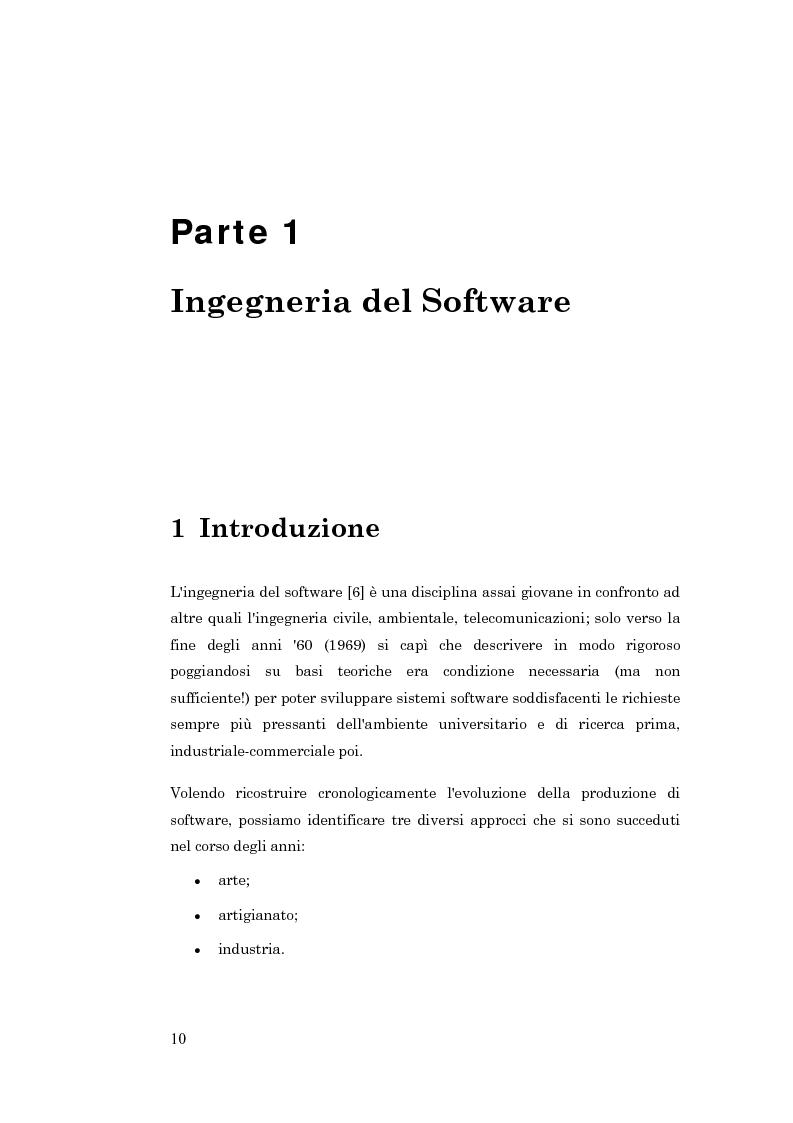 Anteprima della tesi: Metodologie per la progettazione di software orientato agli agenti, Pagina 1