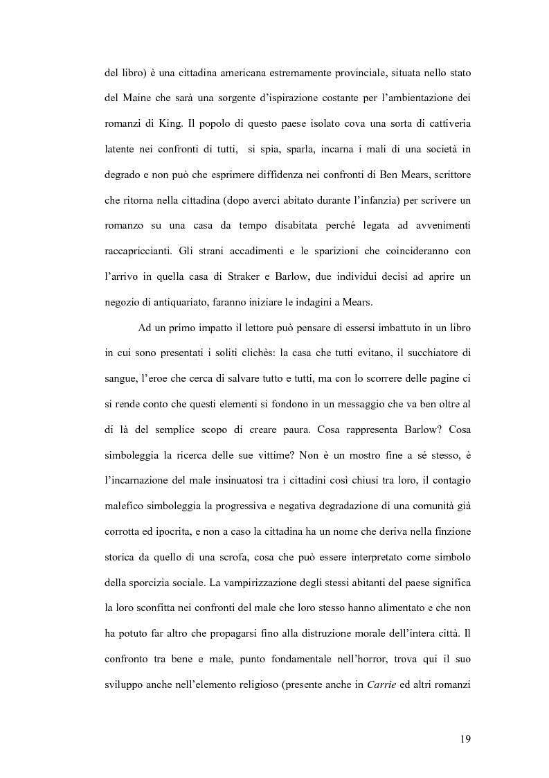 Anteprima della tesi: Stephen King e Clive Barker: due maestri dell'horror tra letteratura e cinema, Pagina 14