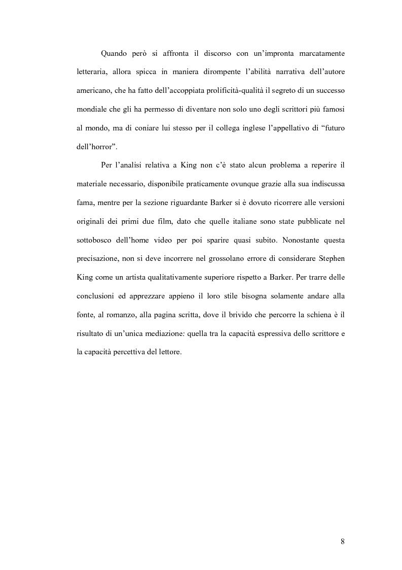 Anteprima della tesi: Stephen King e Clive Barker: due maestri dell'horror tra letteratura e cinema, Pagina 3