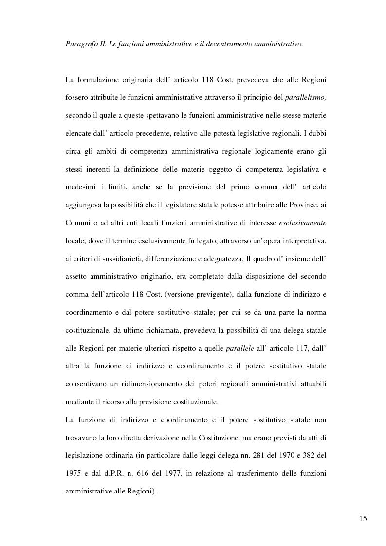 Anteprima della tesi: Il nuovo riparto delle competenze legislative tra lo Stato e le Regioni e l'interesse nazionale, Pagina 12