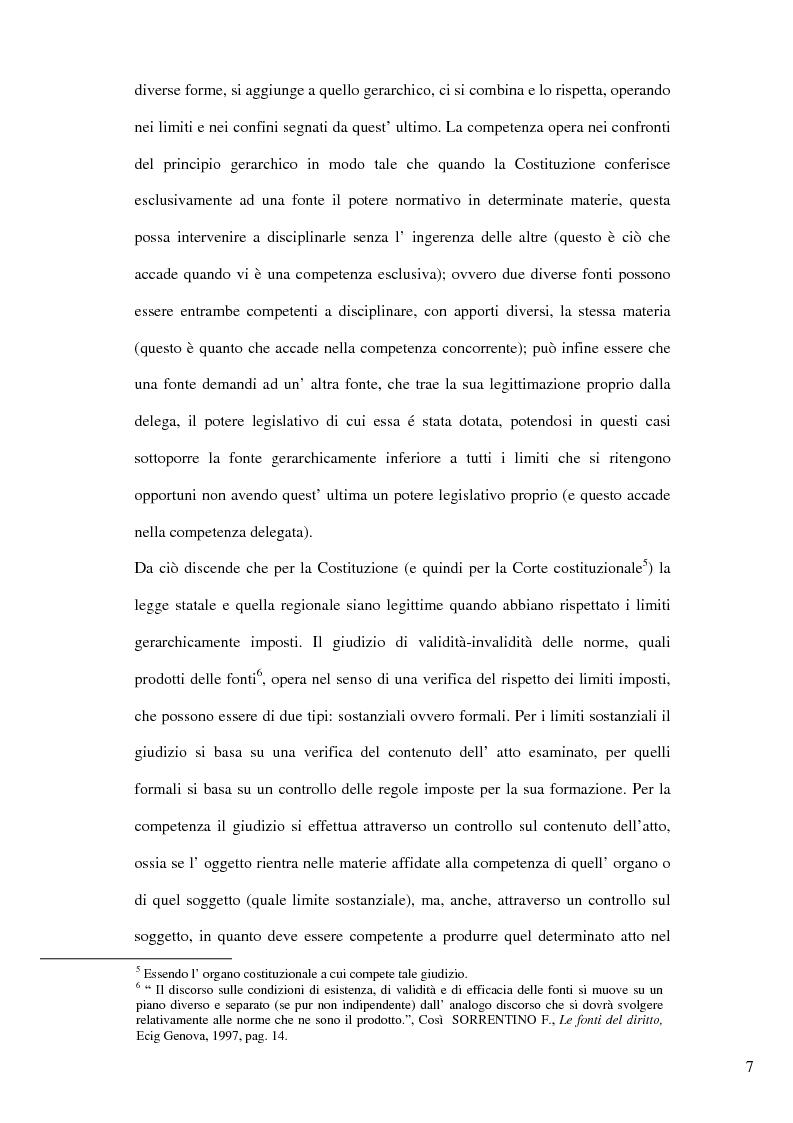 Anteprima della tesi: Il nuovo riparto delle competenze legislative tra lo Stato e le Regioni e l'interesse nazionale, Pagina 4