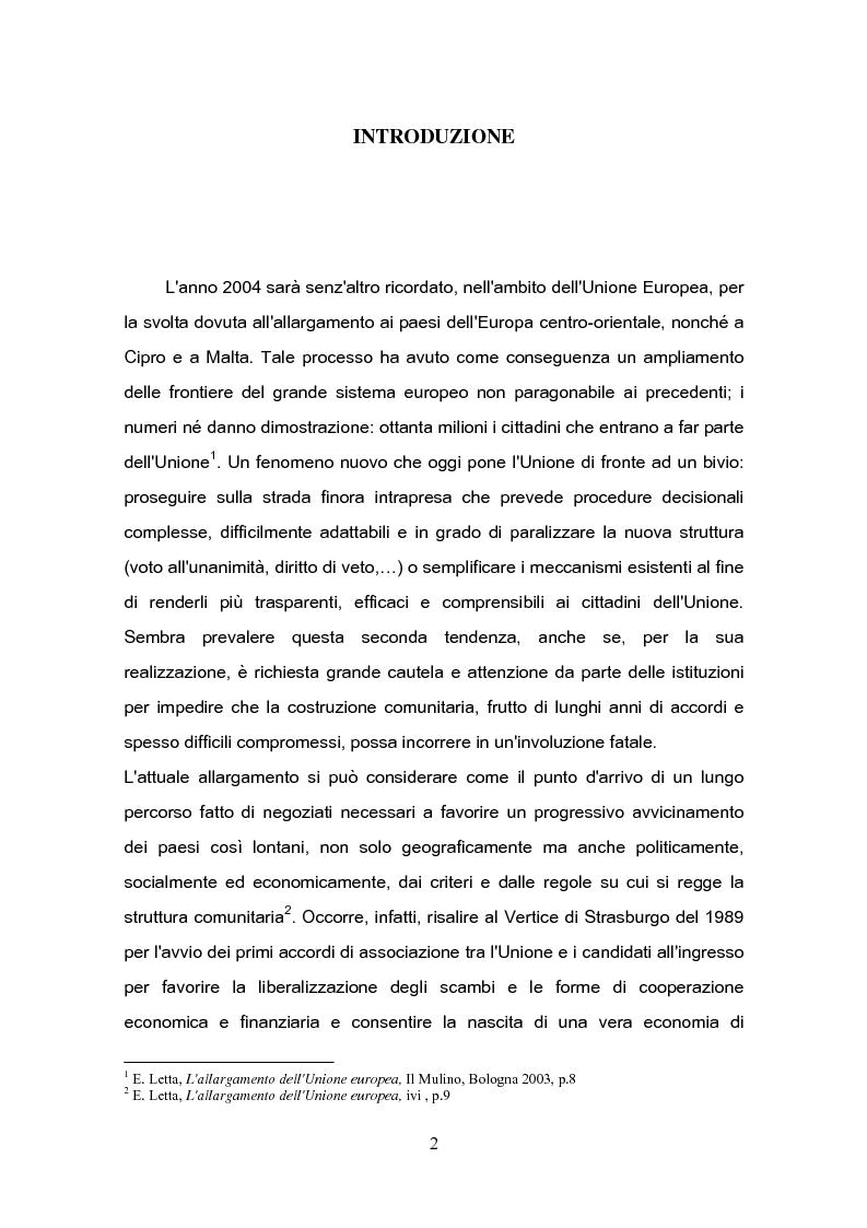 Anteprima della tesi: L'Ue e l'ultimo ''muro'' d'Europa: l'adesione di Cipro all' Unione Europea, Pagina 1