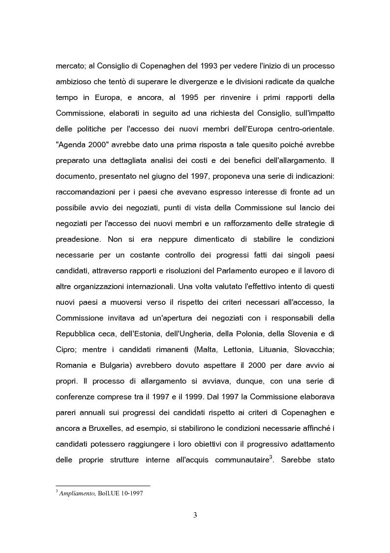 Anteprima della tesi: L'Ue e l'ultimo ''muro'' d'Europa: l'adesione di Cipro all' Unione Europea, Pagina 2