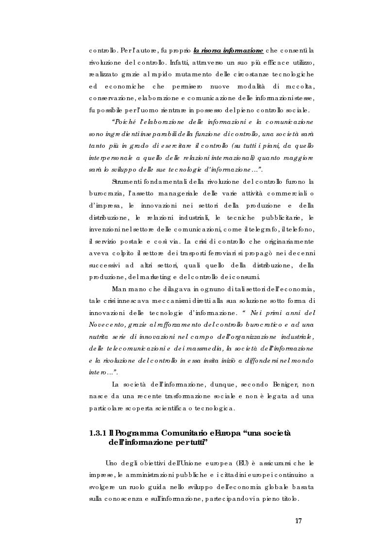 Anteprima della tesi: E-government e Società dell'informazione, Pagina 10