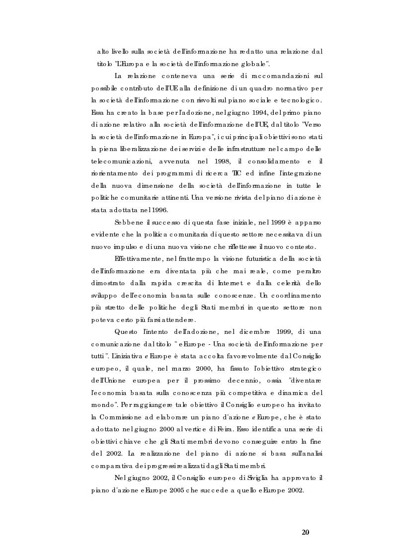 Anteprima della tesi: E-government e Società dell'informazione, Pagina 13