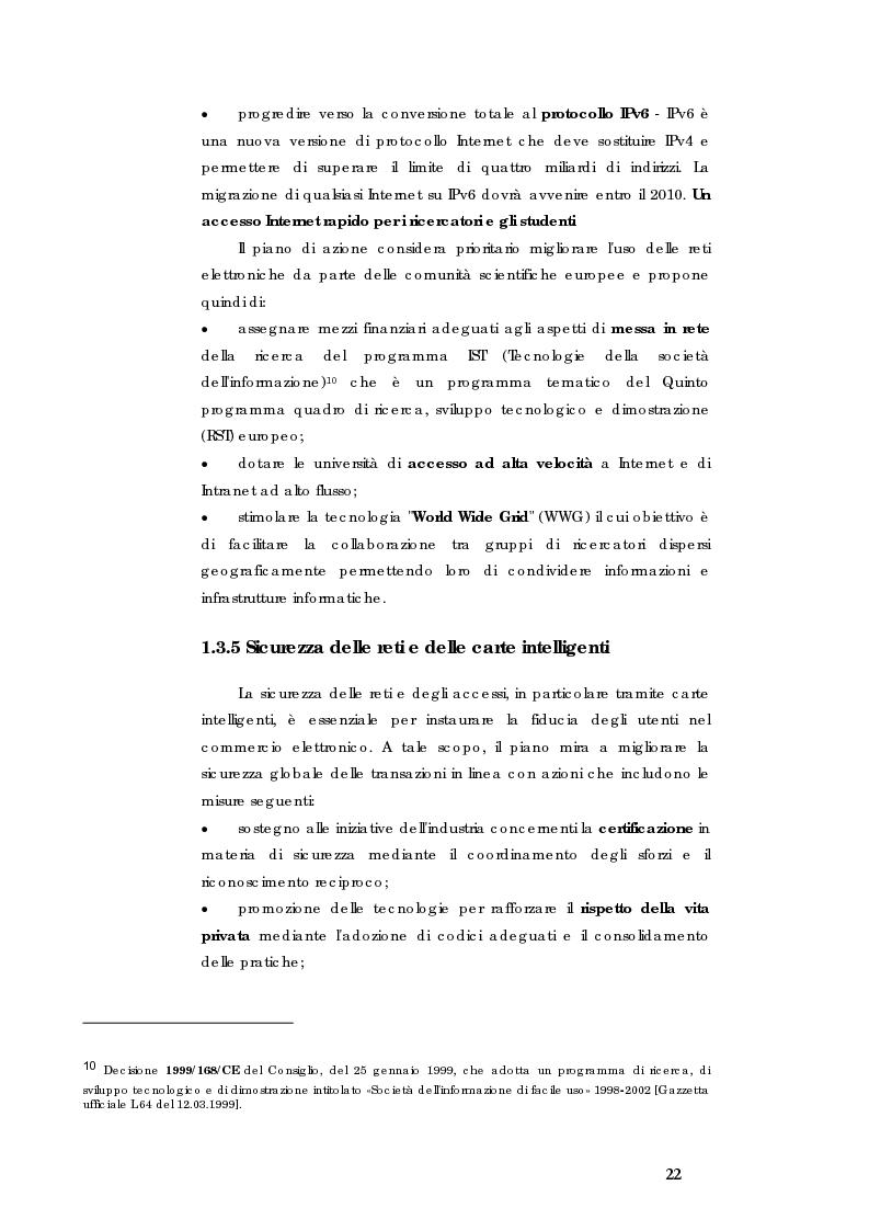 Anteprima della tesi: E-government e Società dell'informazione, Pagina 15