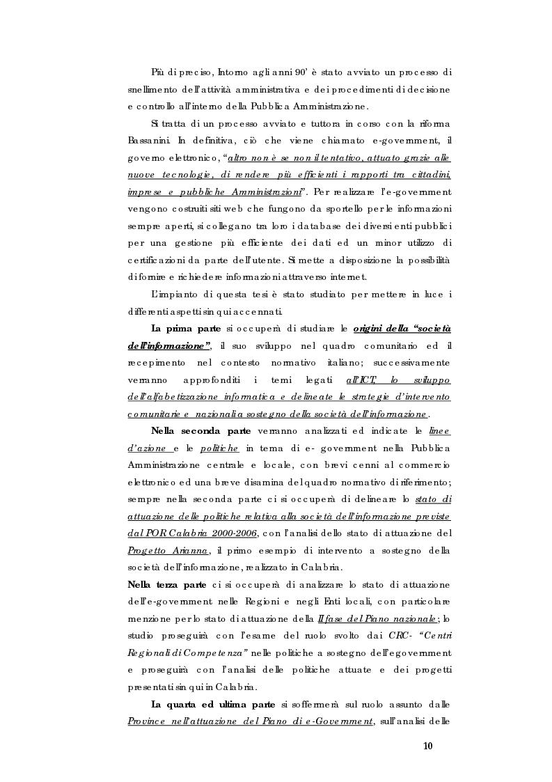 Anteprima della tesi: E-government e Società dell'informazione, Pagina 3