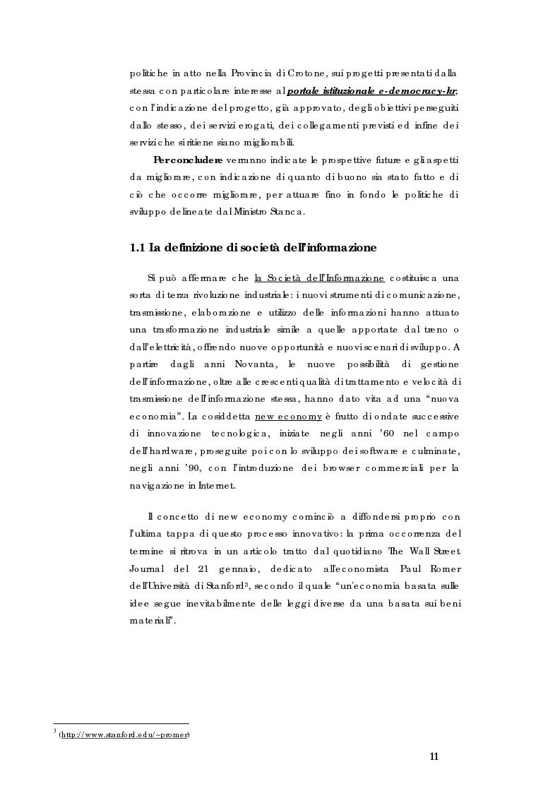 Anteprima della tesi: E-government e Società dell'informazione, Pagina 4