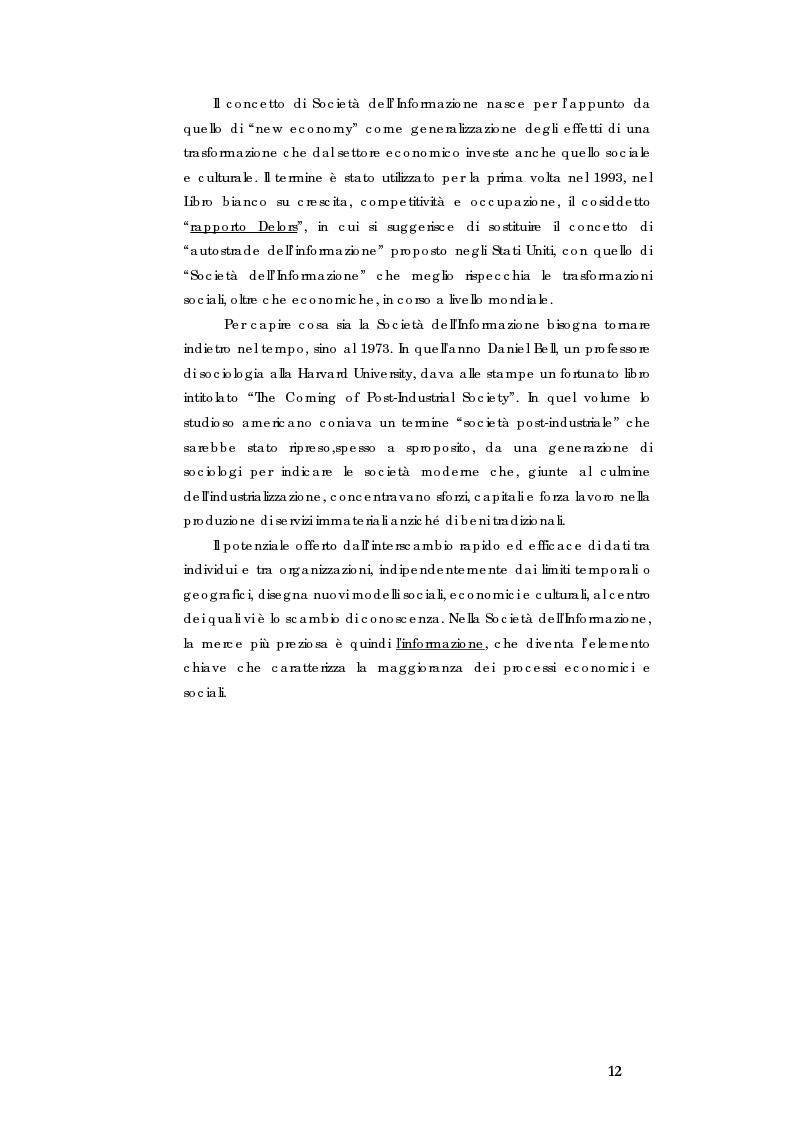 Anteprima della tesi: E-government e Società dell'informazione, Pagina 5