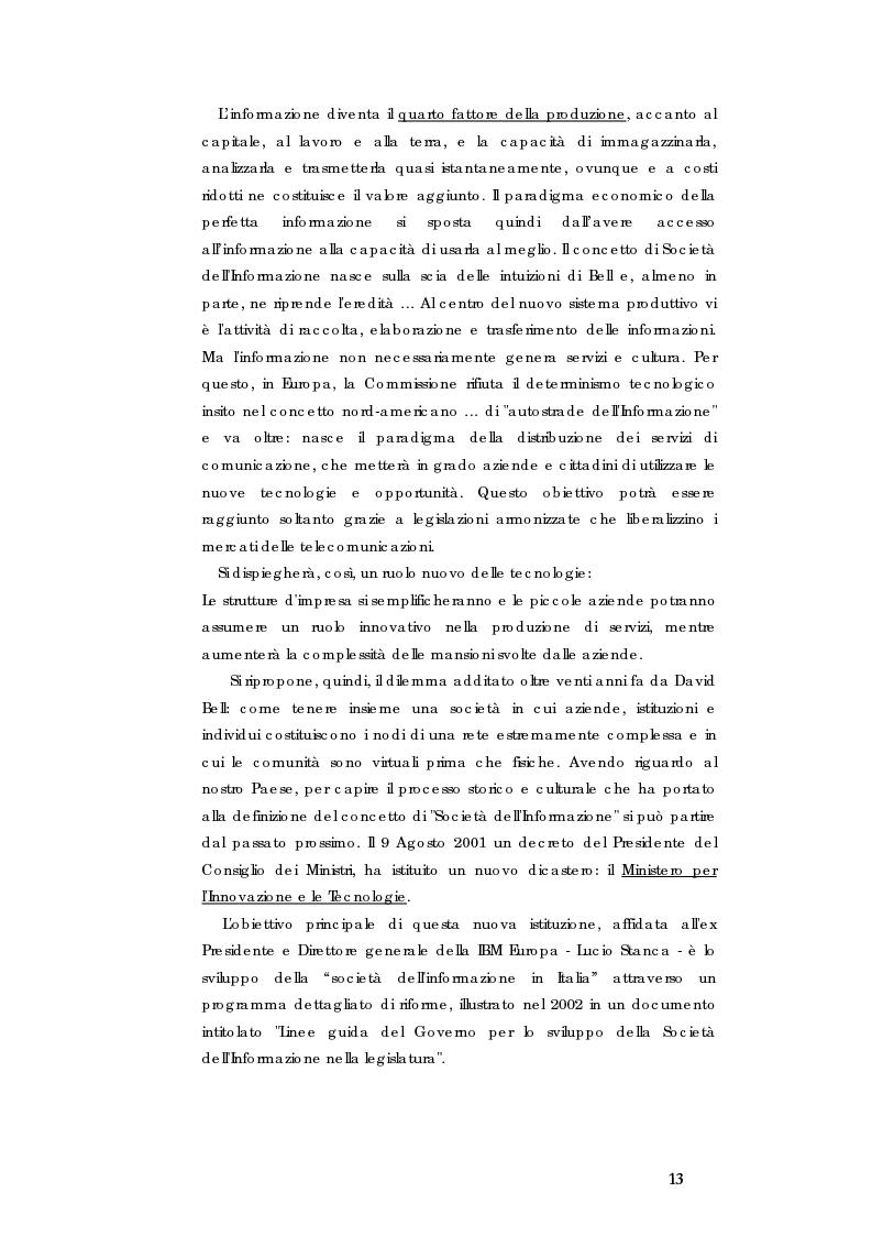 Anteprima della tesi: E-government e Società dell'informazione, Pagina 6