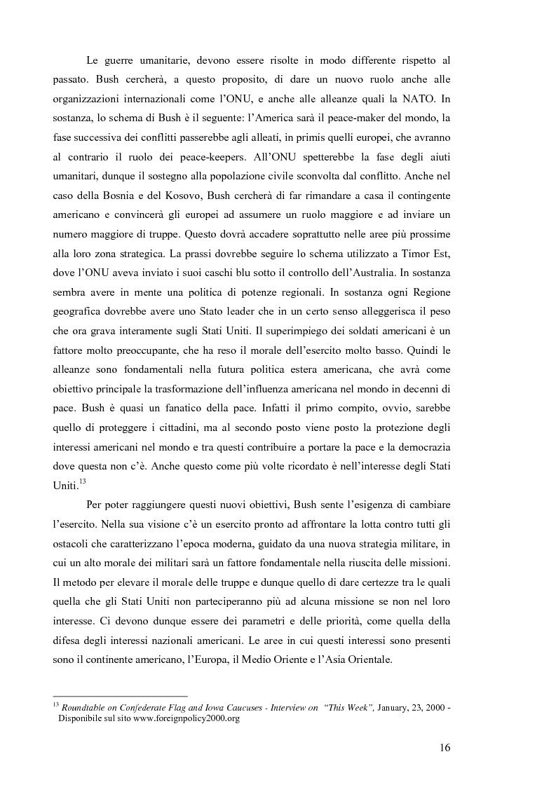 Anteprima della tesi: La Strategia di Sicurezza Nazionale di George Walker Bush, Pagina 12