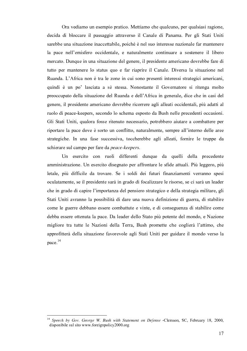 Anteprima della tesi: La Strategia di Sicurezza Nazionale di George Walker Bush, Pagina 13