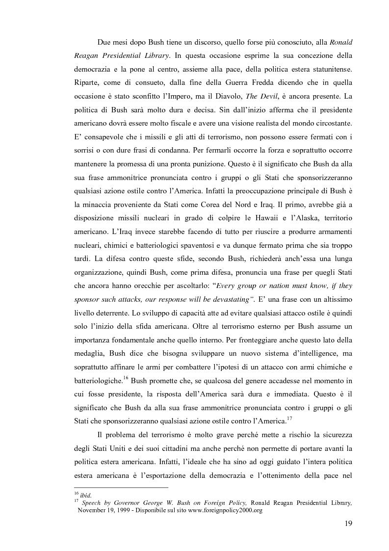 Anteprima della tesi: La Strategia di Sicurezza Nazionale di George Walker Bush, Pagina 15