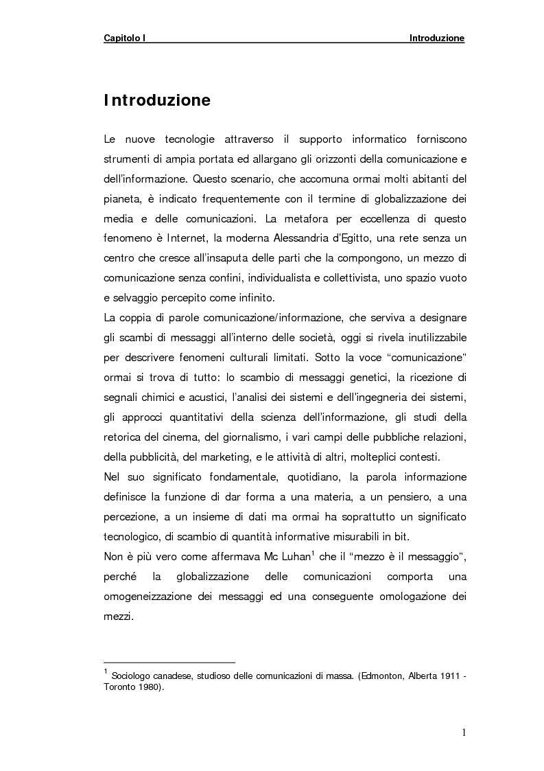 Anteprima della tesi: La gestione della comunicazione istantanea in un portale della conoscenza, Pagina 1