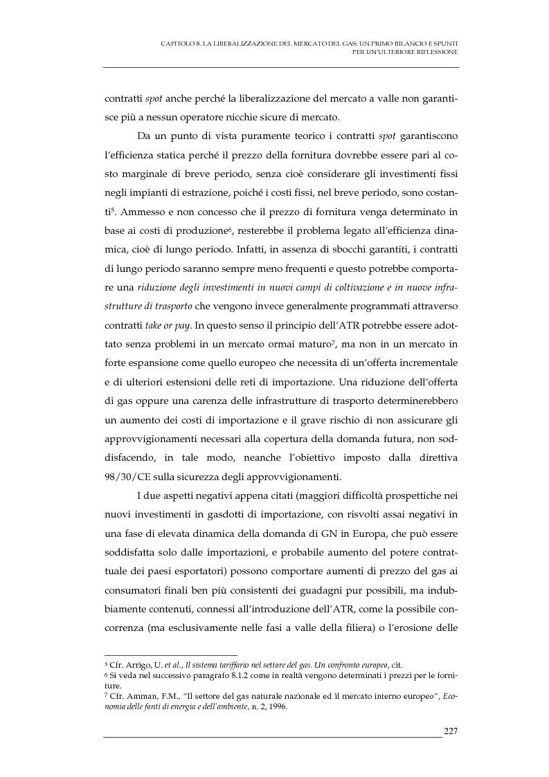 Anteprima della tesi: La liberalizzazione del mercato del gas naturale in Italia e nell'Unione europea. Regolamentazione, prospettive competitive e nuovi assetti strutturali dell'industria di settore, Pagina 10