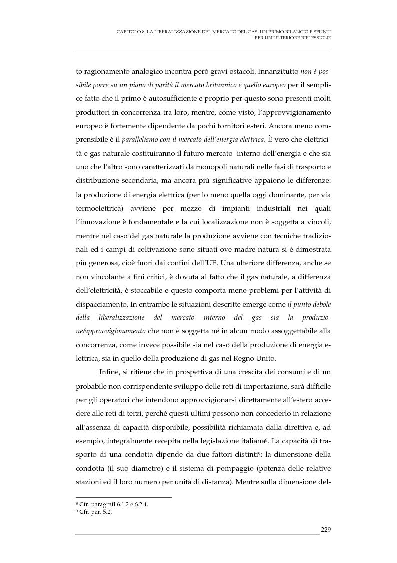 Anteprima della tesi: La liberalizzazione del mercato del gas naturale in Italia e nell'Unione europea. Regolamentazione, prospettive competitive e nuovi assetti strutturali dell'industria di settore, Pagina 12