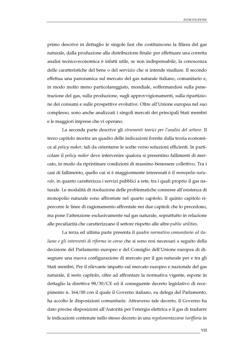 Anteprima della tesi: La liberalizzazione del mercato del gas naturale in Italia e nell'Unione europea. Regolamentazione, prospettive competitive e nuovi assetti strutturali dell'industria di settore, Pagina 2